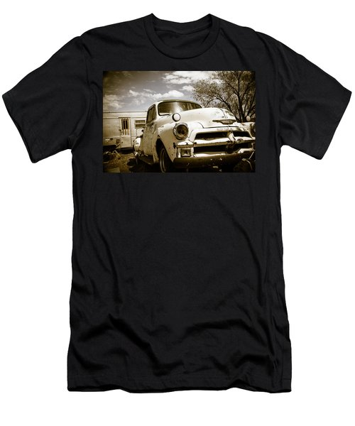 Men's T-Shirt (Slim Fit) featuring the photograph Truck And Trailer by Steven Bateson