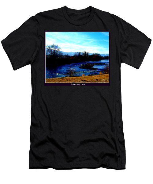 Men's T-Shirt (Slim Fit) featuring the photograph Truckee River In Motion by Bobbee Rickard
