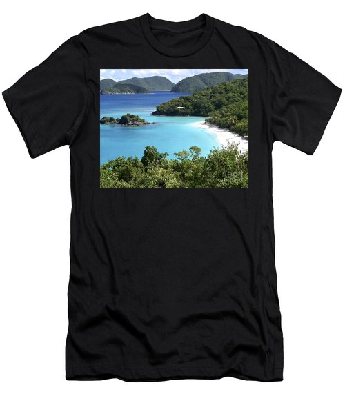 Men's T-Shirt (Slim Fit) featuring the photograph Trunk Bay II by Carol  Bradley