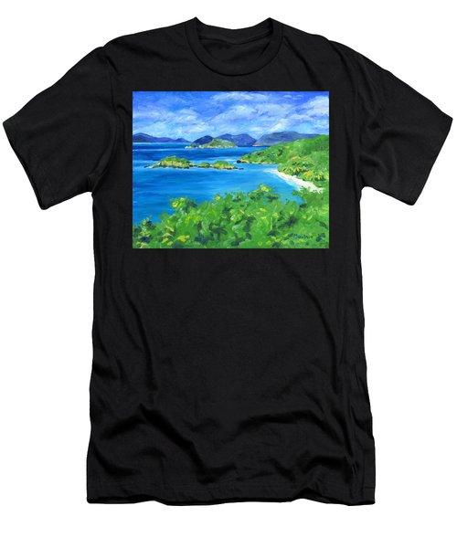 Trunk Bay Men's T-Shirt (Athletic Fit)