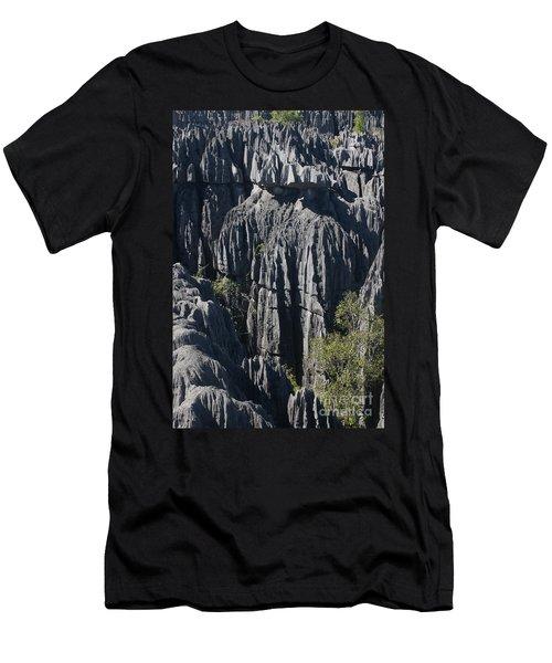 Men's T-Shirt (Slim Fit) featuring the photograph Tsingy De Bemaraha by Rudi Prott