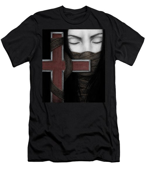 Men's T-Shirt (Slim Fit) featuring the painting Tu Non by Pat Erickson