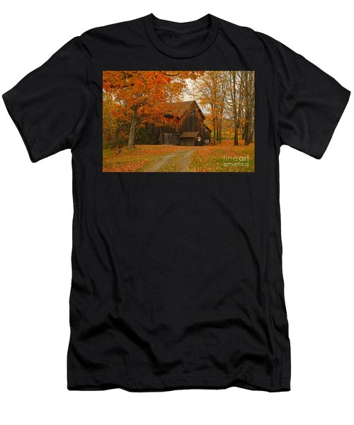 Tucked In The Trees Men's T-Shirt (Athletic Fit)