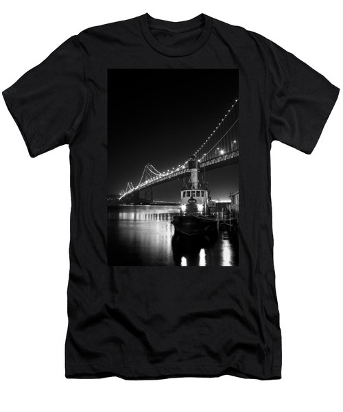 Tugboat Under The Bay Bridge Men's T-Shirt (Athletic Fit)