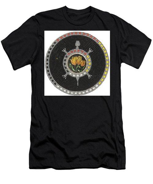 Tulip Turtle Men's T-Shirt (Athletic Fit)