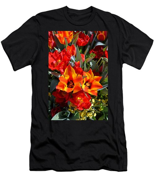 Tulips At The Pier Men's T-Shirt (Slim Fit)