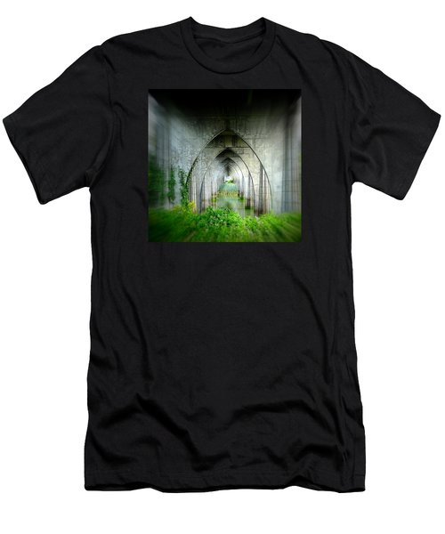 Tunnel Effect Men's T-Shirt (Slim Fit) by Nick Kloepping