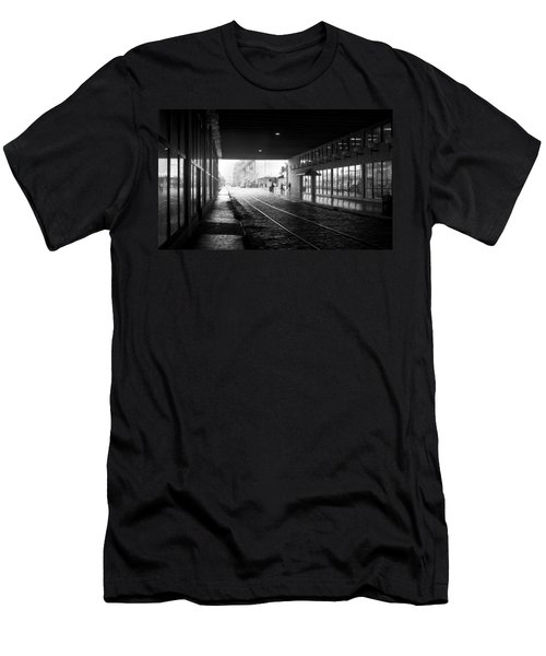 Men's T-Shirt (Slim Fit) featuring the photograph Tunnel Reflections by Lynn Palmer