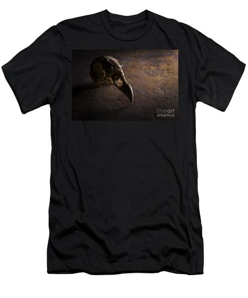 Turkey Vulture Skull On Slate Men's T-Shirt (Athletic Fit)