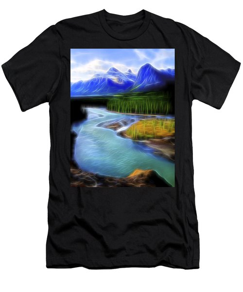 Men's T-Shirt (Slim Fit) featuring the digital art Turquoise Light 1 by William Horden