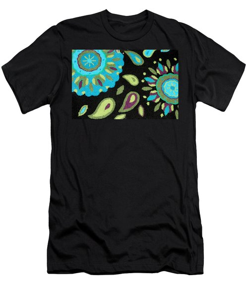 Men's T-Shirt (Slim Fit) featuring the photograph Tapestry Turquoise Rug by Janette Boyd