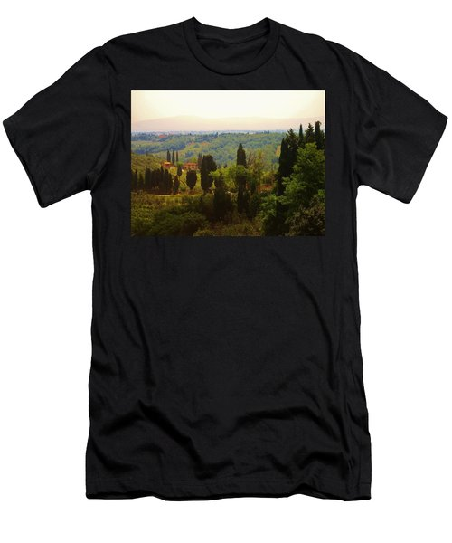 Tuscan Landscape Men's T-Shirt (Athletic Fit)