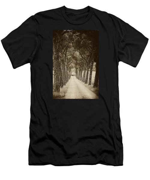 Men's T-Shirt (Slim Fit) featuring the photograph Tuscan Pines by Hugh Smith