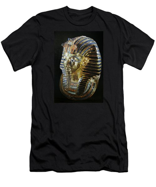 Men's T-Shirt (Slim Fit) featuring the painting Tutankamon's Golden Mask by Leena Pekkalainen