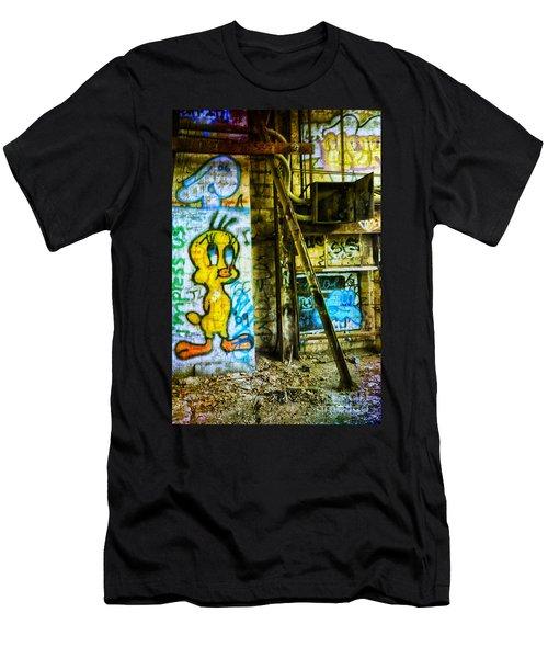 Men's T-Shirt (Slim Fit) featuring the photograph Tweety by Debra Fedchin