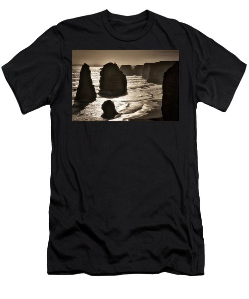 Twelve Apostles #3 - Black And White Men's T-Shirt (Athletic Fit)