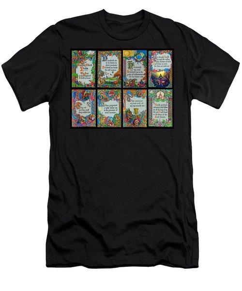 Twenty Third Psalm Collage 2 Men's T-Shirt (Athletic Fit)