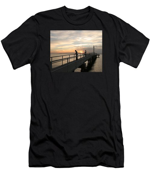 Twilight Fishing Men's T-Shirt (Athletic Fit)