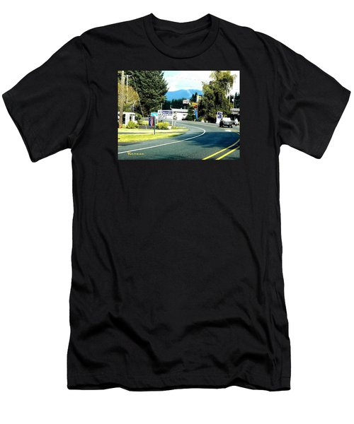 Men's T-Shirt (Slim Fit) featuring the photograph Twilight In Forks Wa 2 by Sadie Reneau