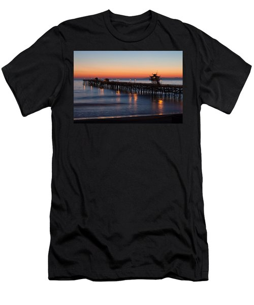 Twilight San Clemente Pier Men's T-Shirt (Athletic Fit)