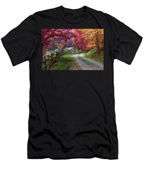 Twin Falls State Park Men's T-Shirt (Slim Fit) by Mary Almond