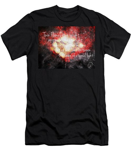 Twin Flames Men's T-Shirt (Slim Fit) by Absinthe Art By Michelle LeAnn Scott