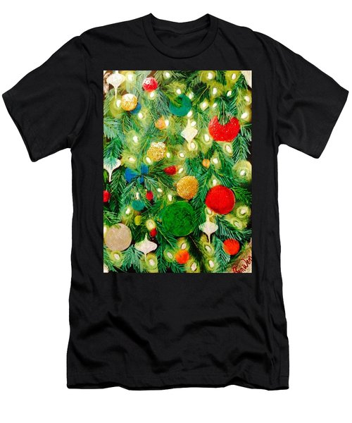 Twinkling Christmas Tree Men's T-Shirt (Athletic Fit)
