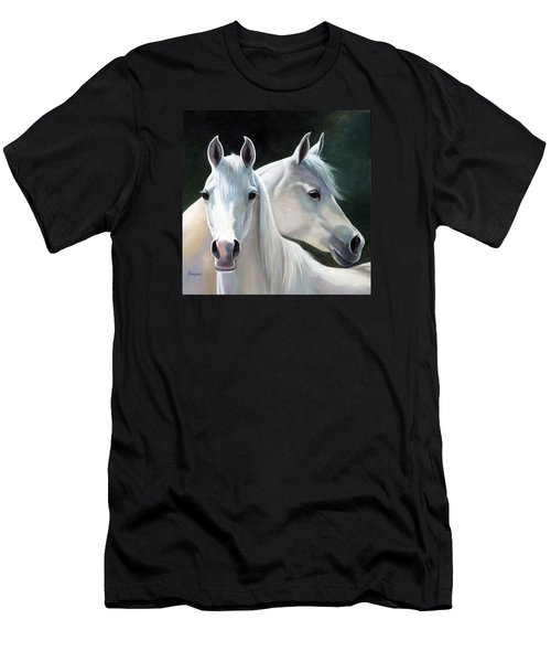 Twins Men's T-Shirt (Slim Fit) by Vivien Rhyan