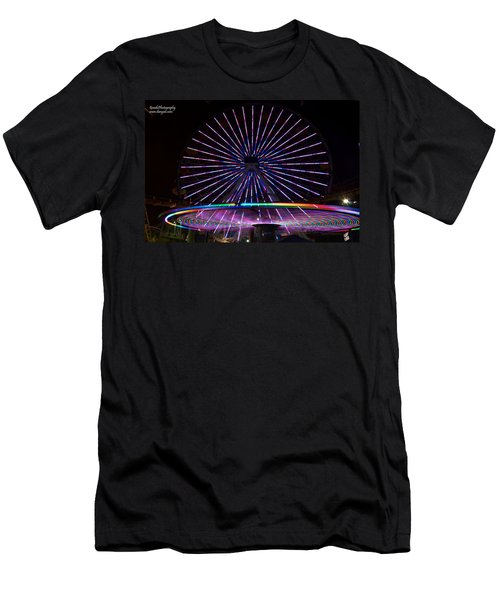 Two Carousels  Men's T-Shirt (Athletic Fit)