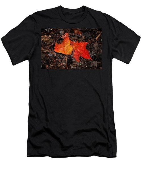 Two Fallen Autumn Leaves Men's T-Shirt (Athletic Fit)
