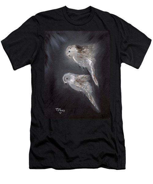 Men's T-Shirt (Slim Fit) featuring the painting Two Spirits In The Night by Barbie Batson