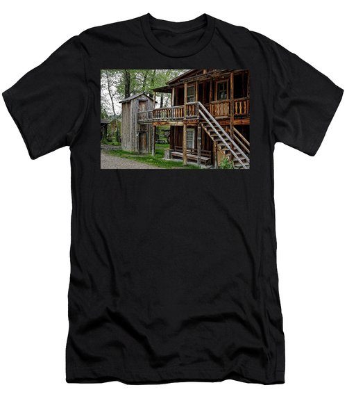 Two Story Outhouse - Nevada City Montana Men's T-Shirt (Athletic Fit)