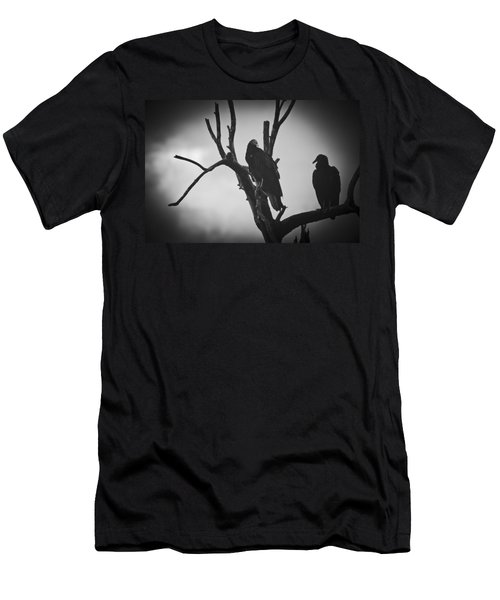 Two Vultures Men's T-Shirt (Slim Fit) by Bradley R Youngberg