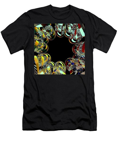 Men's T-Shirt (Slim Fit) featuring the digital art U Of M Robot Huddle by Greg Moores