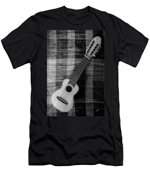 Ukulele Still Life In Black And White Men's T-Shirt (Athletic Fit)