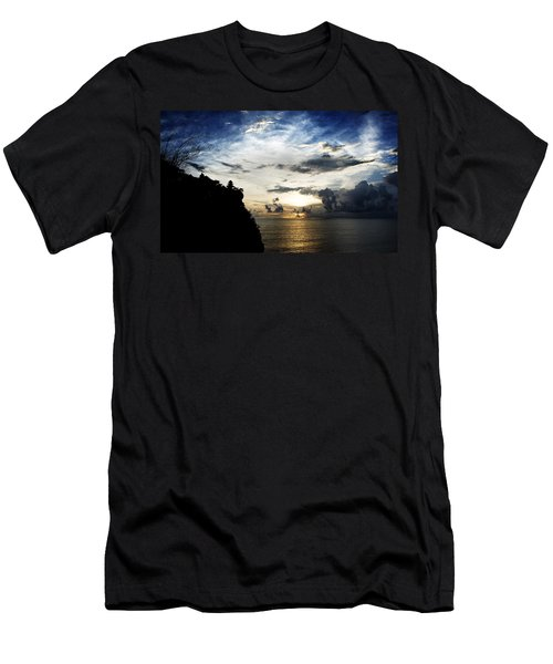 Men's T-Shirt (Slim Fit) featuring the photograph Uluwatu Temple by Yew Kwang