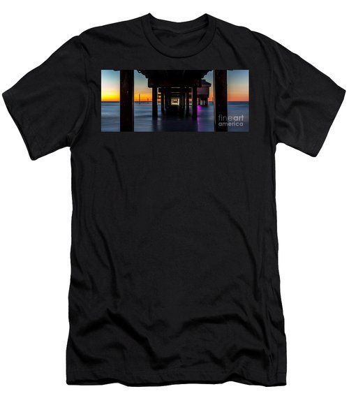 Under Clearwater Beach Pier Men's T-Shirt (Slim Fit) by Steven Reed