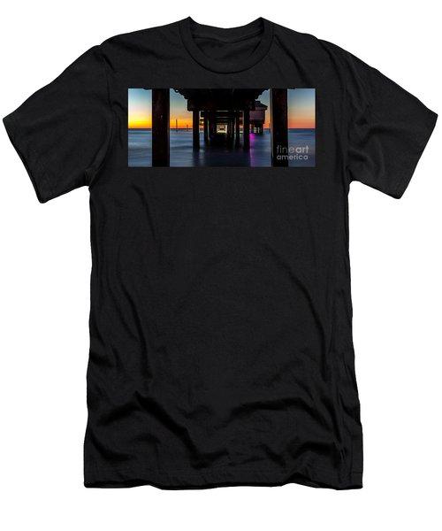 Under Clearwater Beach Pier Men's T-Shirt (Athletic Fit)