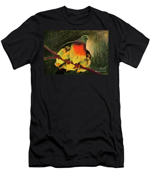 Men's T-Shirt (Slim Fit) featuring the painting Under His Wings by Hazel Holland