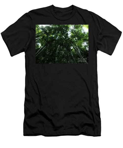 Under The Bamboo Haleakala National Park  Men's T-Shirt (Slim Fit) by Vivian Christopher