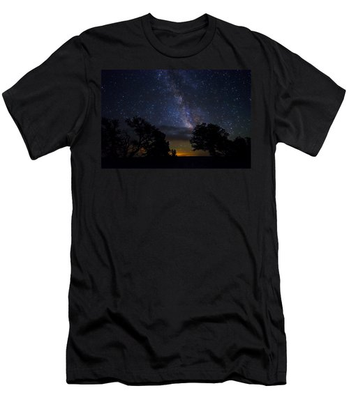Under The Stars At The Grand Canyon  Men's T-Shirt (Athletic Fit)
