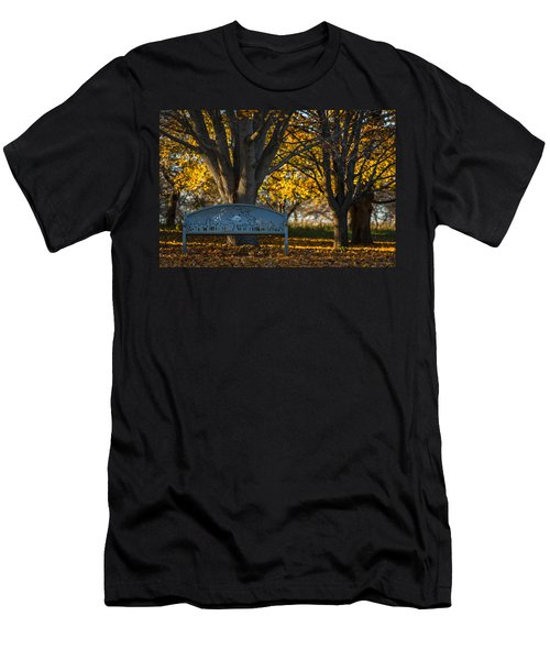 Men's T-Shirt (Slim Fit) featuring the photograph Under The Tree by Sebastian Musial