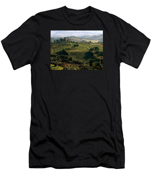 Under The Tuscan Sun Men's T-Shirt (Slim Fit) by Ira Shander