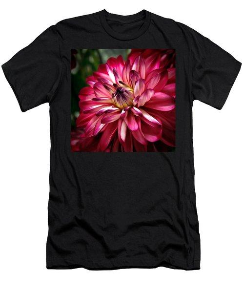 Dahlia Unfolding Men's T-Shirt (Athletic Fit)