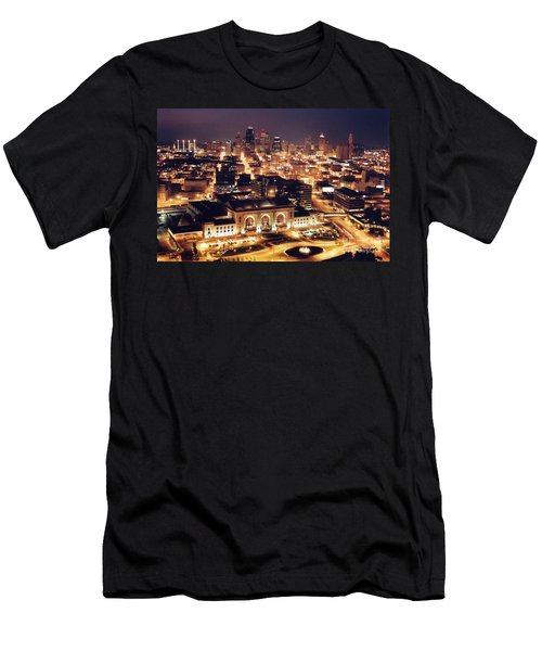 Union Station Night Men's T-Shirt (Athletic Fit)