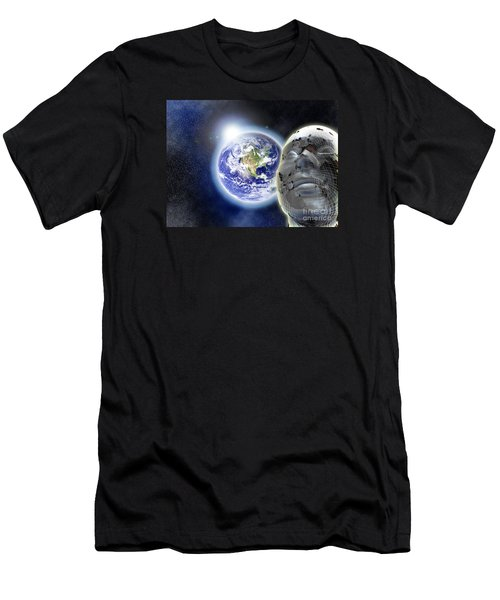 Alone In The Universe Men's T-Shirt (Slim Fit) by Stefano Senise