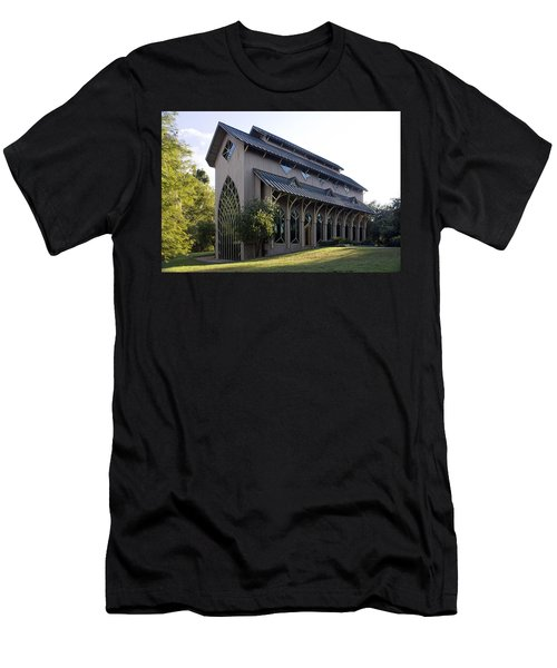 University Of Florida Chapel On Lake Alice Men's T-Shirt (Slim Fit) by Lynn Palmer