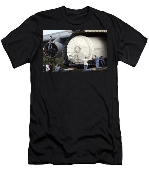 Men's T-Shirt (Slim Fit) featuring the photograph Unloading A Titan Ivb Rocket by Science Source