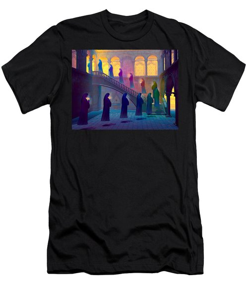 Men's T-Shirt (Slim Fit) featuring the painting Uplifting Prayer by Dave Luebbert