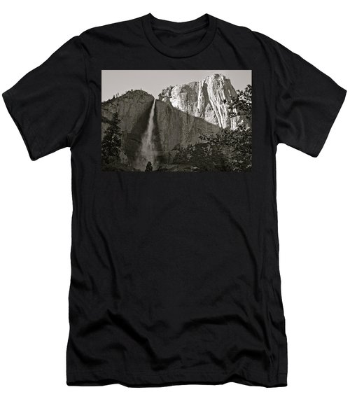 Upper Yosemite Falls Composition In Triangles Men's T-Shirt (Athletic Fit)